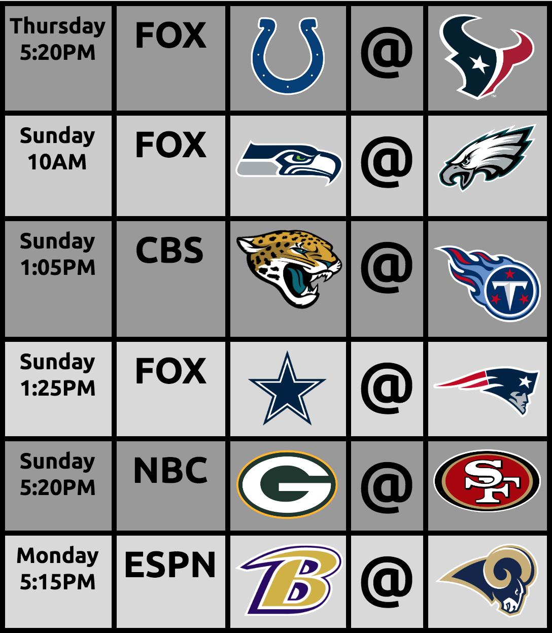The Portland Metro Area Gets AMAZING NFL Games: Week12
