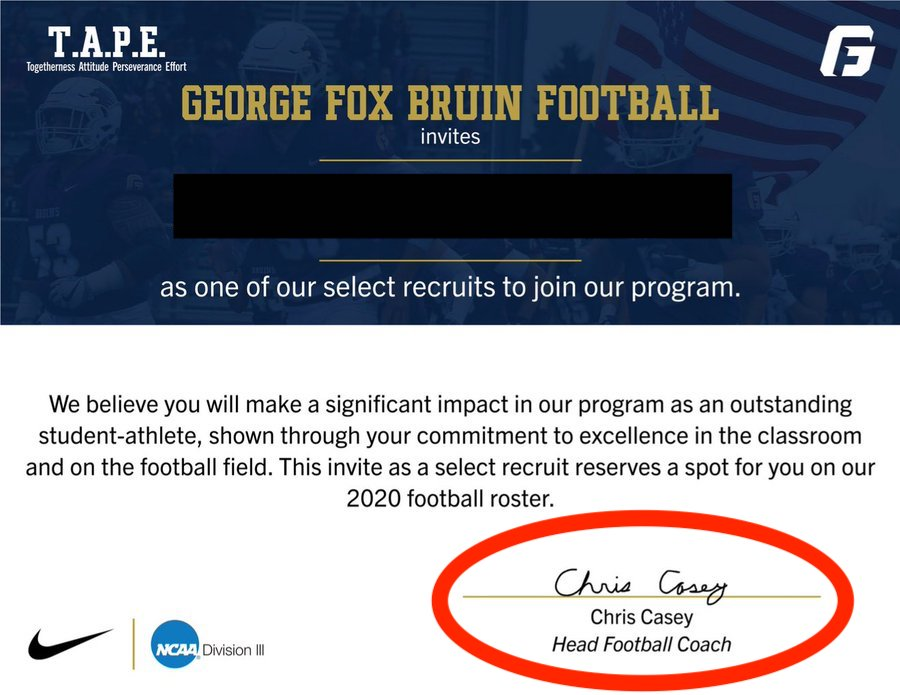 Does The Head Football Coach At George Fox Have The Worst Signature Of AllTime?